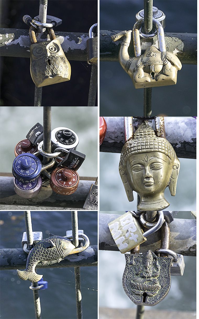 Some of the many types of locks found at the head of the Augusta Canal.