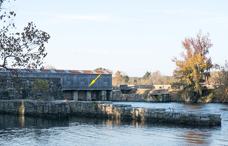 Lock structure at the head of the Augusta Canal.